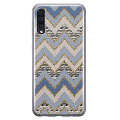 Leuke Telefoonhoesjes Samsung Galaxy A50/A30s siliconen hoesje - Retro zigzag