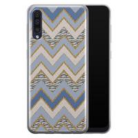 Samsung Galaxy A50/A30s siliconen hoesje - Retro zigzag
