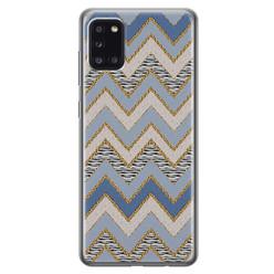 Leuke Telefoonhoesjes Samsung Galaxy A31 siliconen hoesje - Retro zigzag