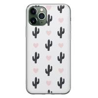 iPhone 11 Pro Max siliconen hoesje - Cactus love