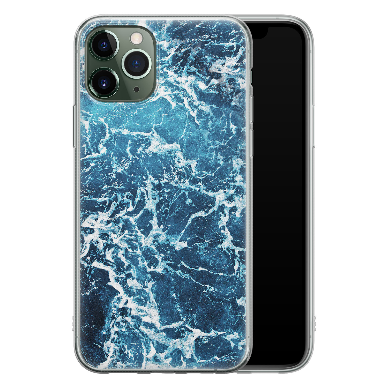 iPhone 11 Pro Max siliconen hoesje - Ocean blue