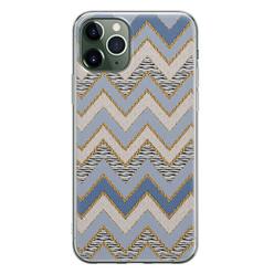 Leuke Telefoonhoesjes iPhone 11 Pro Max siliconen hoesje - Retro zigzag