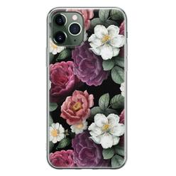 Leuke Telefoonhoesjes iPhone 11 Pro Max siliconen hoesje - Bloemenliefde