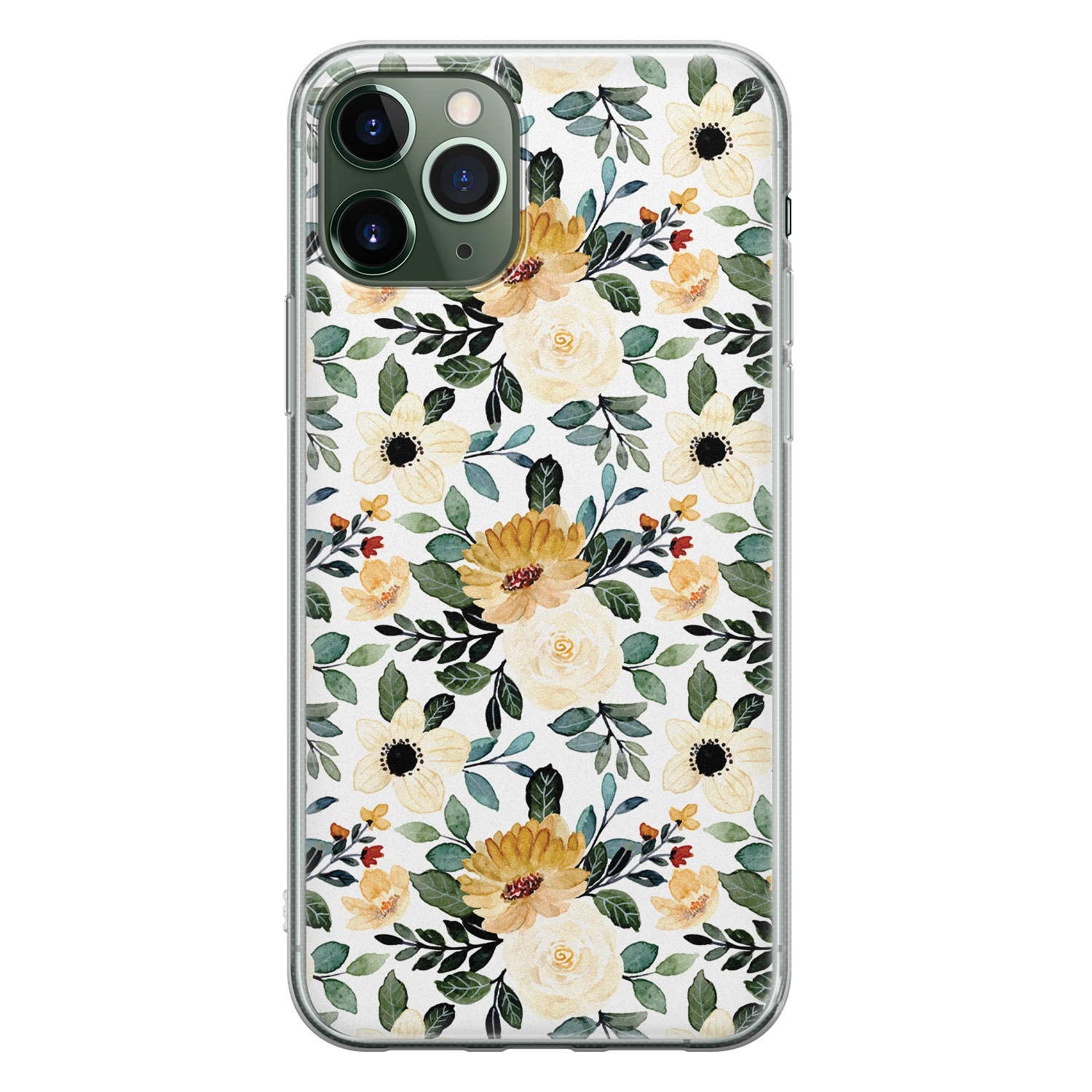 iPhone 11 Pro Max siliconen hoesje - Lovely flower