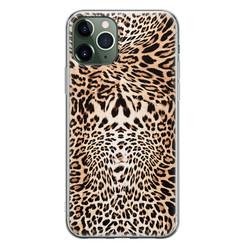 Leuke Telefoonhoesjes iPhone 11 Pro Max siliconen hoesje - Wild animal