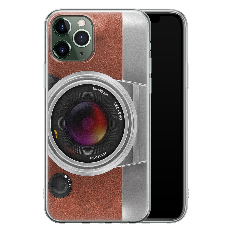 iPhone 11 Pro Max siliconen hoesje - Vintage camera