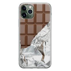 Leuke Telefoonhoesjes iPhone 11 Pro Max siliconen hoesje - Chocoladereep
