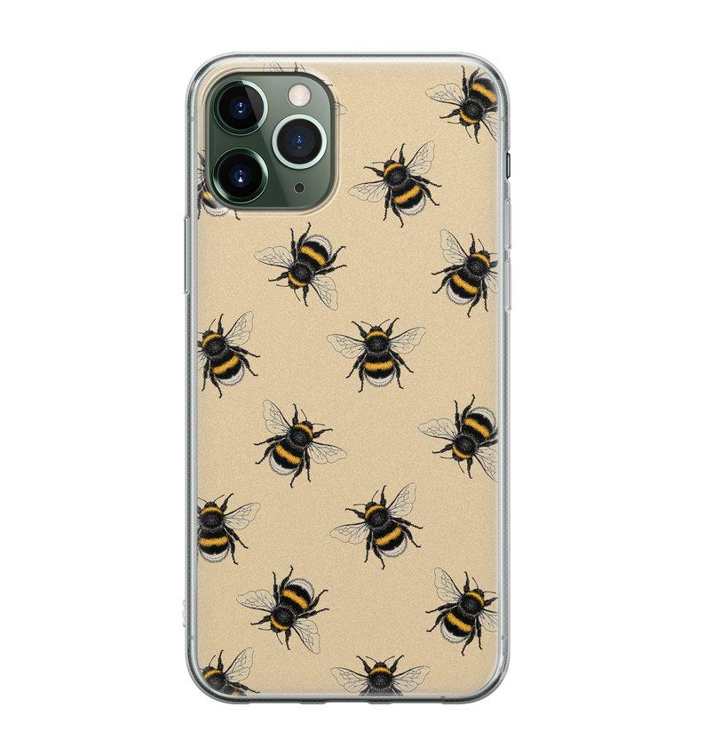 iPhone 11 Pro Max siliconen hoesje - Bee happy