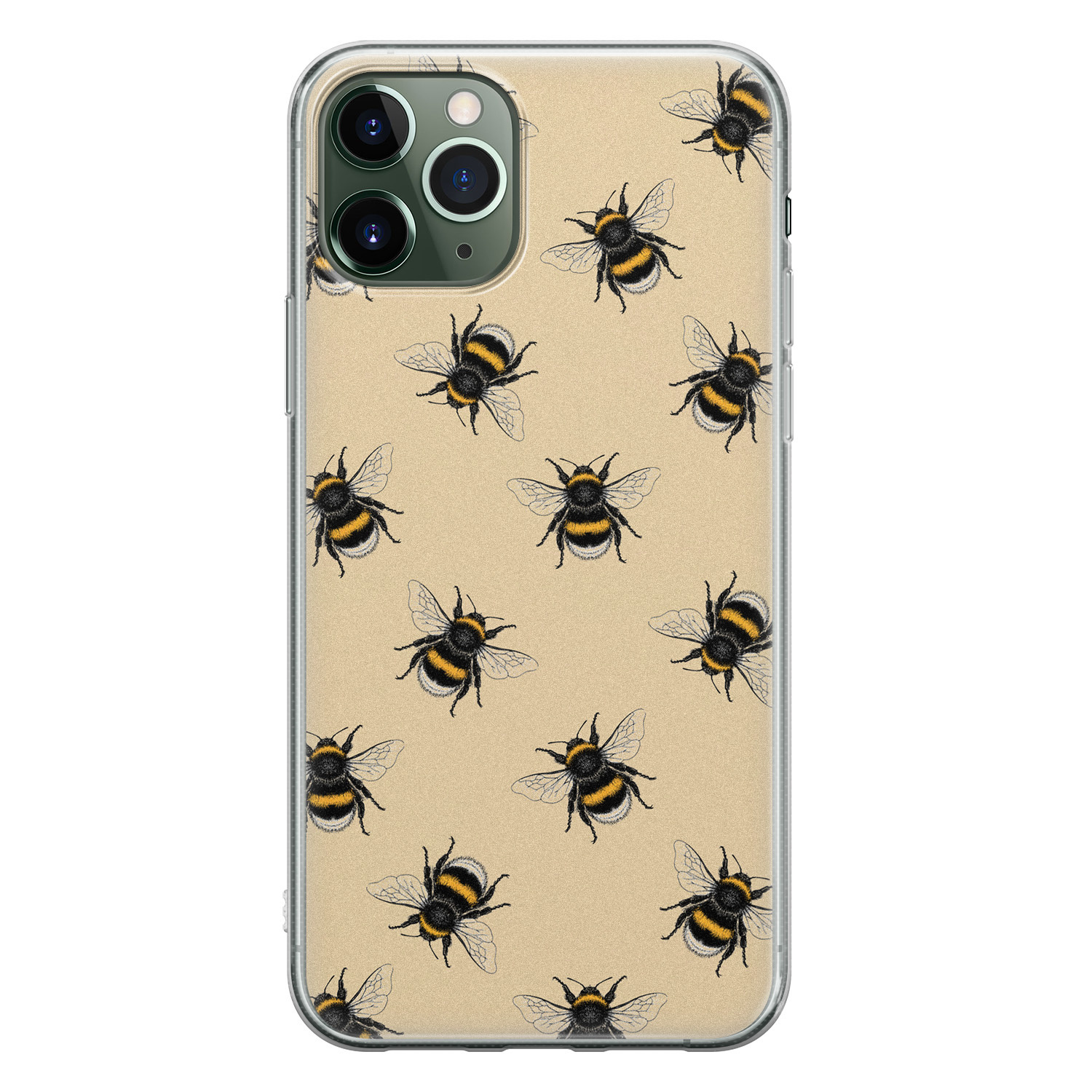 iPhone 11 Pro Max siliconen hoesje - Bee happy