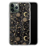 iPhone 11 Pro Max siliconen hoesje - Sun, moon, stars
