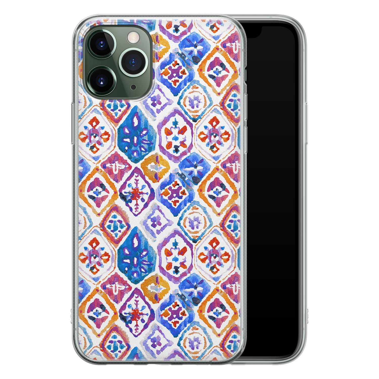 iPhone 11 Pro Max siliconen hoesje - Boho vibe