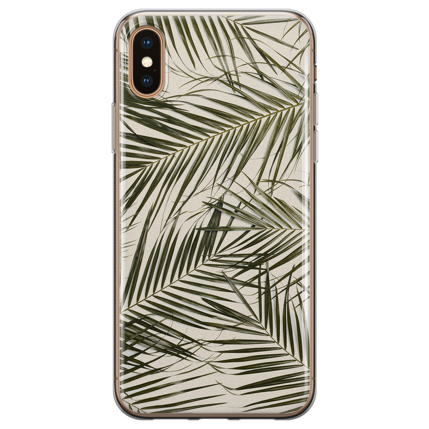 iPhone XS Max siliconen hoesje - Leave me alone