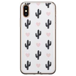 iPhone XS Max siliconen hoesje - Cactus love