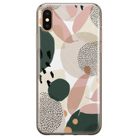 iPhone XS Max siliconen hoesje - Abstract print