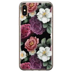 iPhone XS Max siliconen hoesje - Bloemenliefde