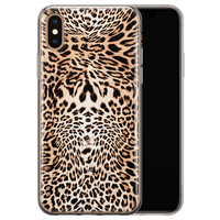 iPhone XS Max siliconen hoesje - Wild animal