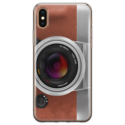 iPhone XS Max siliconen hoesje - Vintage camera