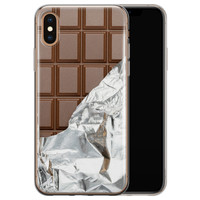 iPhone XS Max siliconen hoesje - Chocoladereep