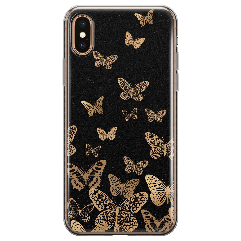 iPhone XS Max siliconen hoesje - Vlinders