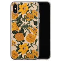 iPhone XS Max siliconen hoesje - Retro flowers