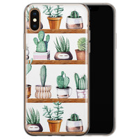 iPhone XS Max siliconen hoesje - Cactus