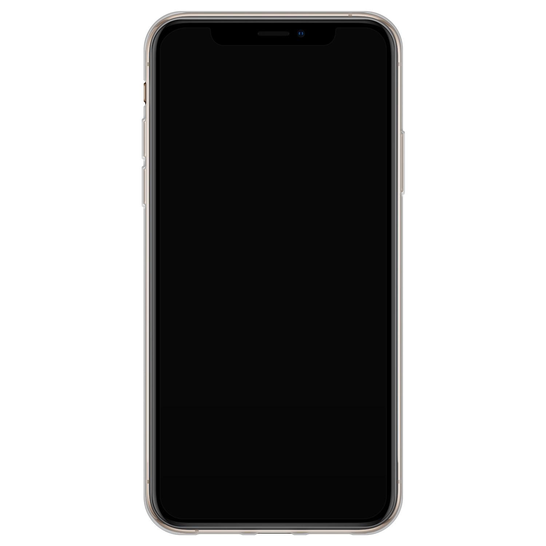 iPhone XS Max siliconen hoesje - Marmer zwart bruin