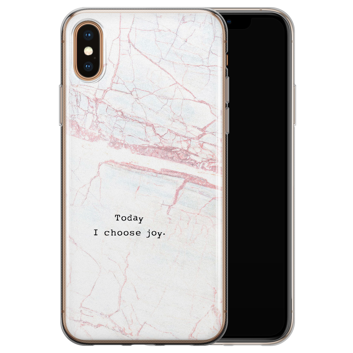 iPhone XS Max siliconen hoesje - Today I choose joy