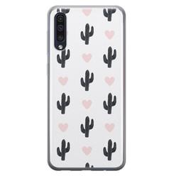 Samsung Galaxy A70 siliconen hoesje - Cactus love