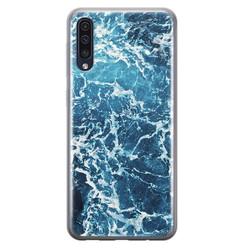 Leuke Telefoonhoesjes Samsung Galaxy A70 siliconen hoesje - Ocean blue