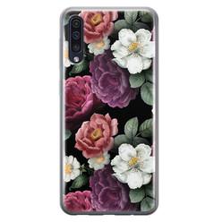 Leuke Telefoonhoesjes Samsung Galaxy A70 siliconen hoesje - Bloemenliefde