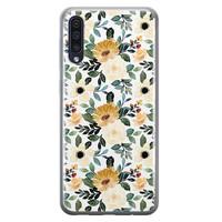 Samsung Galaxy A70 siliconen hoesje - Lovely flower