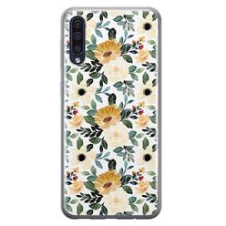 Leuke Telefoonhoesjes Samsung Galaxy A70 siliconen hoesje - Lovely flower