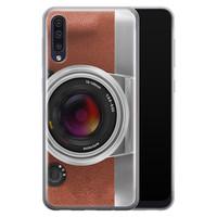 Samsung Galaxy A70 siliconen hoesje - Vintage camera