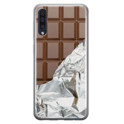 Leuke Telefoonhoesjes Samsung Galaxy A70 siliconen hoesje - Chocoladereep