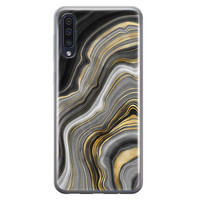 Samsung Galaxy A70 siliconen hoesje - Golden agate
