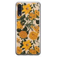 Samsung Galaxy A70 siliconen hoesje - Retro flowers