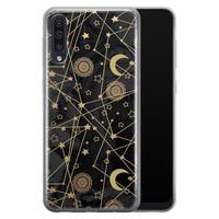 Samsung Galaxy A70 siliconen hoesje - Sun, moon, stars