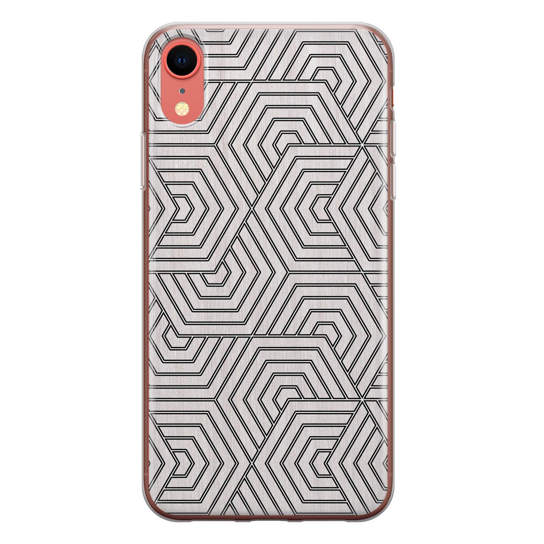 iPhone XR siliconen hoesje - Geometrisch