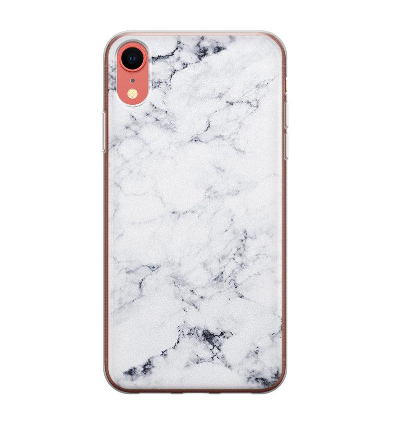 iPhone XR siliconen hoesje - Marmer grijs