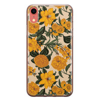 iPhone XR siliconen hoesje - Retro flowers