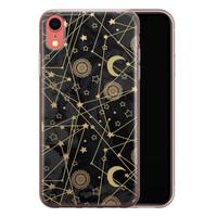 iPhone XR siliconen hoesje - Sun, moon, stars