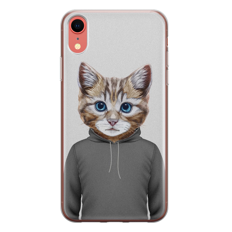 iPhone XR siliconen hoesje - Poezenhoofd