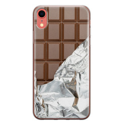 Leuke Telefoonhoesjes iPhone XR siliconen hoesje - Chocoladereep