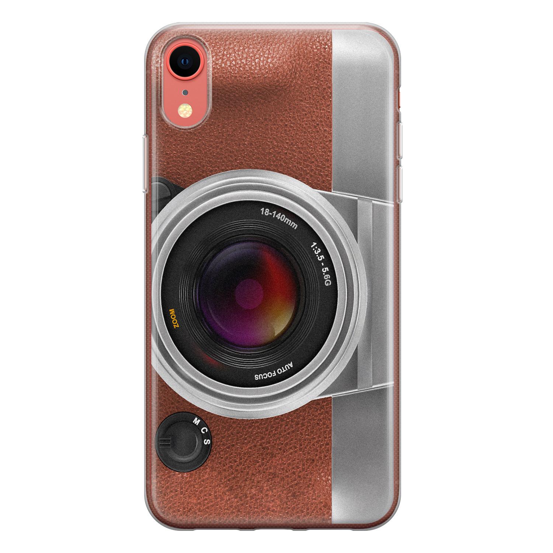 iPhone XR siliconen hoesje - Vintage camera