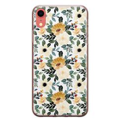 Leuke Telefoonhoesjes iPhone XR siliconen hoesje - Lovely flower