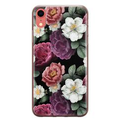Leuke Telefoonhoesjes iPhone XR siliconen hoesje - Bloemenliefde