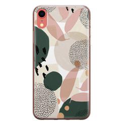 Leuke Telefoonhoesjes iPhone XR siliconen hoesje - Abstract print