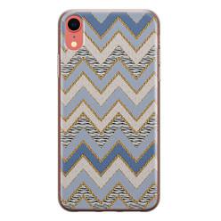 Leuke Telefoonhoesjes iPhone XR siliconen hoesje - Retro zigzag