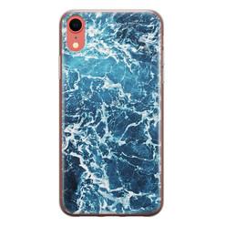 Leuke Telefoonhoesjes iPhone XR siliconen hoesje - Ocean blue