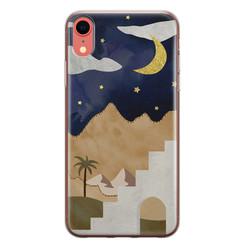 Leuke Telefoonhoesjes iPhone XR siliconen hoesje - Desert night